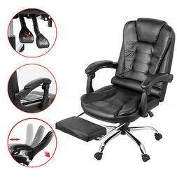 racing gaming chair leather high back recliner