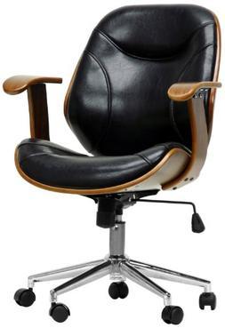 Baxton Studios Rathburn Walnut and Black Modern Office Chair