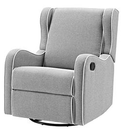 Angel Line Rebecca Upholstered Swivel Gliding Recliner, Gray
