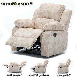 Recliner Chair Modern Accent Arm Chair Pusk Back Luxury Soft
