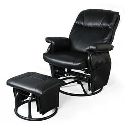 Recliner Chair with Ottoman Living Room Chairs Faux Leather
