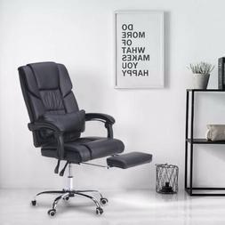 Recliner Office Chair Ergonomic Executive Leather Comfortabl