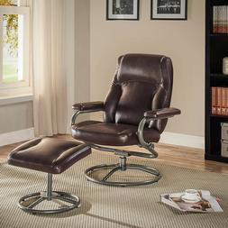 New Recliner Ottoman Furniture Set, Swivel Lounge Footrest,