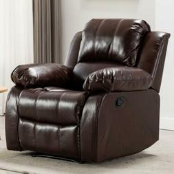 Recliner Chair Wall Hugger PU Leather Overstuffed Recliner C