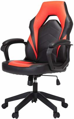 Red Chair Ergonomic Leather E-Sport Gaming Racing PC Compute