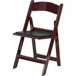 Flash Furniture Resin Folding Chair w/Removable Vinyl Cushio
