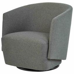 Rivet Coen Contemporary Modern Upholstered Accent Swivel Cha