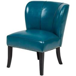 Riviera Mid-Century Modern Tulip-Back Accent Chair - Teal Bl