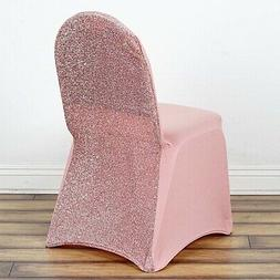 Rose Gold Metallic SPANDEX High Quality Stretchable CHAIR CO