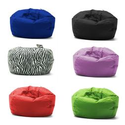 Big Joe Round Bean Bag Chair Teens Kids Durable Unisex Cozy