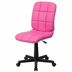 SALE Flash Furniture Mid-Back Pink Quilted Vinyl Swivel Task