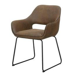 Convenience Concepts Samantha Accent Chair in Cappuccino Lin