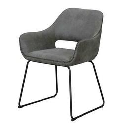 Convenience Concepts Samantha Accent Chair in Gray Linen Fab
