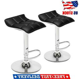 Set of 2 Adjustable Modern Swivel Bar Stools Dining Chair Co
