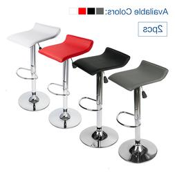 Set of 2 Bar Stool Adjustable Dining Table Chair Leather Sea