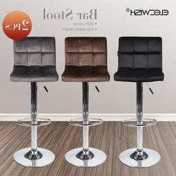 Set of 2 Bar Stools Adjustable Counter Chair Dining Desk Sea