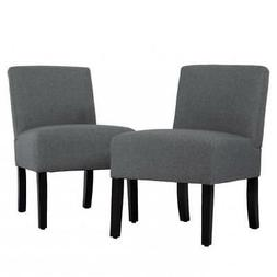 Set Of 2 Chairs Upholstered Accent Chair, Sofa Club Side Cha
