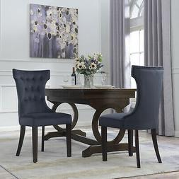 set of 2 dining chair tufted fabric