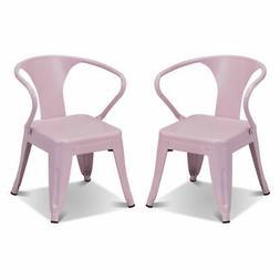 Set of 2 Kids Tolix Chair Steel Armchair Stackable Indoor Ou