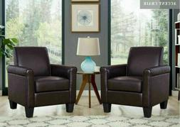 Set of 2 Modern Accent Arm Chair Sofa  Upholstered Living Ro