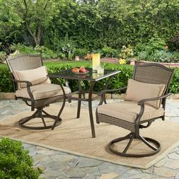 Set of 2 Patio Swivel Dining Chair Wicker Furniture Swivelin