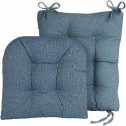 Set Of 2 Seat Pad Back Pad Non Slip Cushions Rocking Chair C