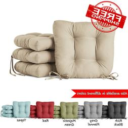 """Set of 4 Dining Chair Cushion Seat Pads 14.5"""" Outdoor Living"""