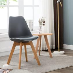 Set of 4  Dining Chair Upholstered Leather Mid-Century Moder