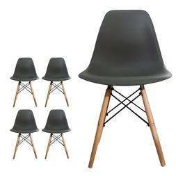 Set of 4 dining chairs mid-century modern dining room Plasti