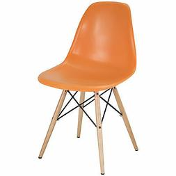 Set of 4 Eiffel Side Chair Wood Dowel Base - 7 Colors Availa