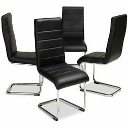 Baxton Studio Marlys Faux Leather Dining Chair in Black