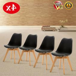Set of 4 Mid Century Modern Dining Chairs For Kitchen Bedroo