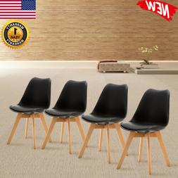 Set of 4 Modern Dining Chair Wood Legs for Kitchen Bedroom L