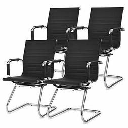 Set of 4 Office Guest Chairs Waiting Room Chairs for Recepti