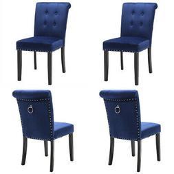 set of 4 velvet dining chair tufted