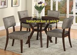 set of 6 exotic Modern Dining Chairs Cushion Seat & Back Fur