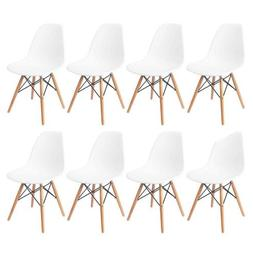 Set of 8 Mid Century Modern DSW Dining Side Chair Wood Legs