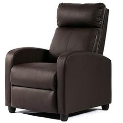 BestMassage Wingback Recliner Chair Leather Single Modern So