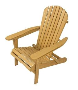 Best Choice Products Foldable Wood Adirondack Chair for Pati