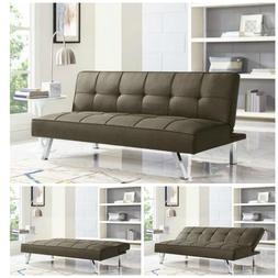 Sleeper Sofa Bed Brown Convertible Couch Modern Living Room