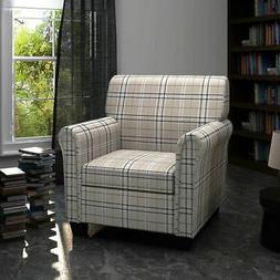 Sofa Arm Chair Armchair Fabric Cream White Seat Cushion Livi