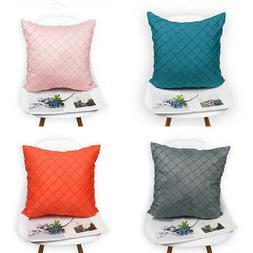 Solid Color Faux Suede Pillowcase Chair Sofa Bed Cushion Cov