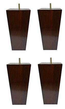 "6"" Solid Wood Furniture Sofa/Chair/Ottoman Tapered Legs Waln"