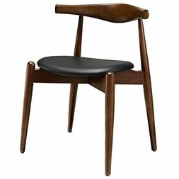 Modway Stalwart Beechwood Mid-Century Dining Chair With Faux