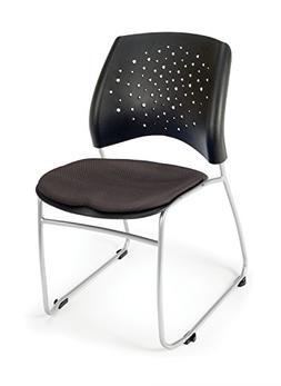 OFM Stars Series Armless Fabric Swivel Chair, Slate Gray