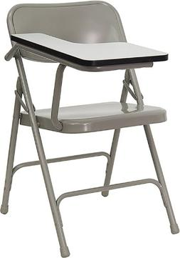 Premium Steel Folding Chair with Tablet Arm Left Hand Tablet