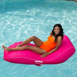 Suntan Lounge Swimming Pool Float Chair Side Pockets Durable