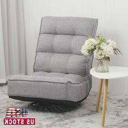 Swivel Adjustable Folding Floor Chair Lounge Chair Lazy Sofa