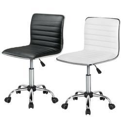 Swivel Low Back Armless Ribbed Designer Office/Desk/Task Cha