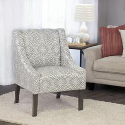 Swoop Accent Chair In Tonal Gray Home Lounge Modern Mid Cent